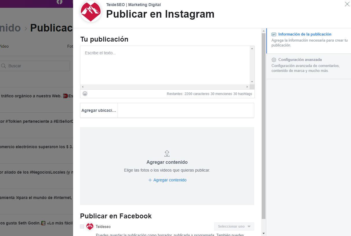 tutorial programar publicaciones en instagram
