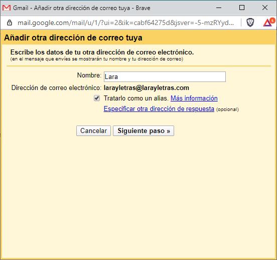 redirección de correo a gmail