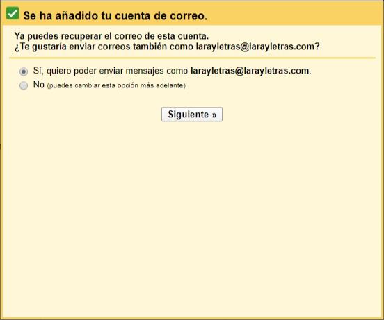 Cómo tener otro dominio en mi cuenta de gmail
