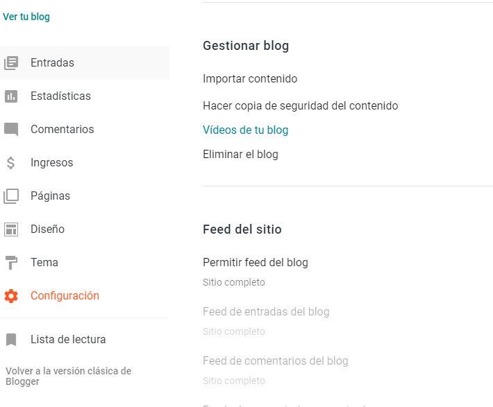 exportar contenido blogger
