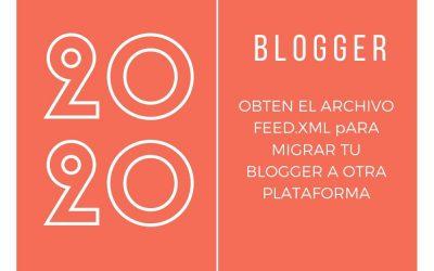 Como conseguir el feed de blogspot para migrarlo a wordpress