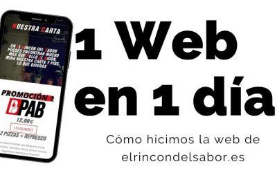 Cómo hicimos la web de El Rincón del Sabor en 1 día