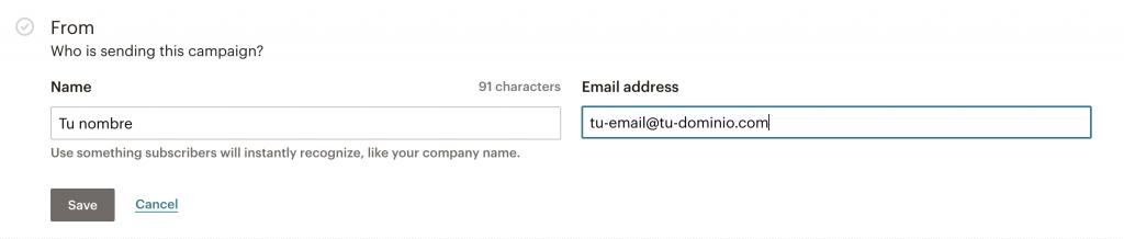 enviar correo electrónico mailchimp
