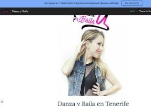 página web para escuela de danza