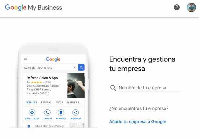 crear google my business