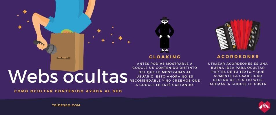 ocultar contenido a google