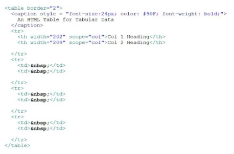 tablas html diseño