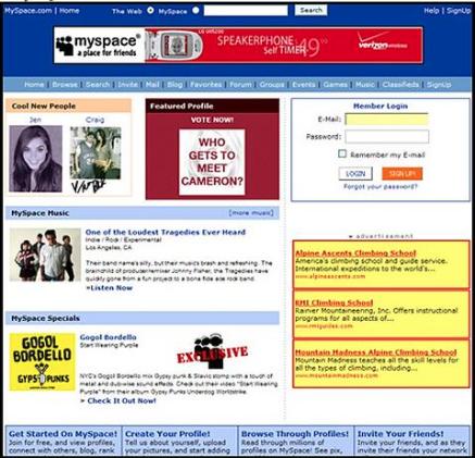 myspace diseño web