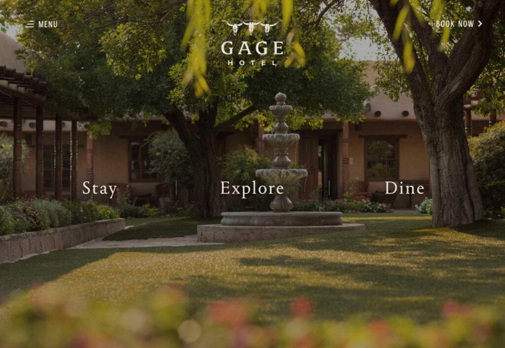 cage hotel diseño web