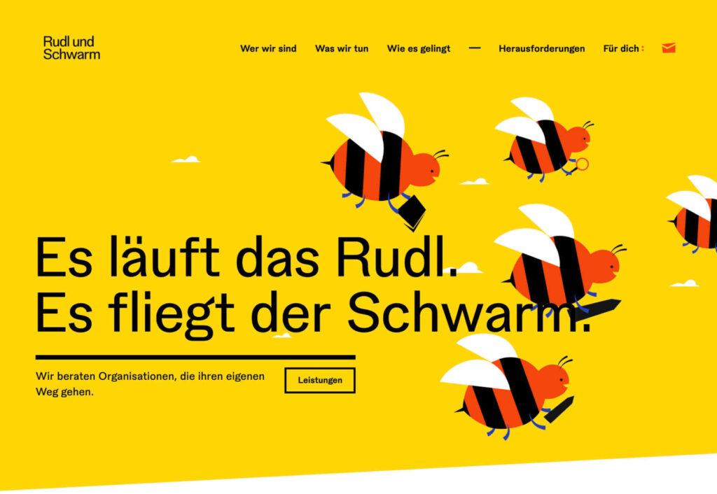 rudl und schwarm diseño web