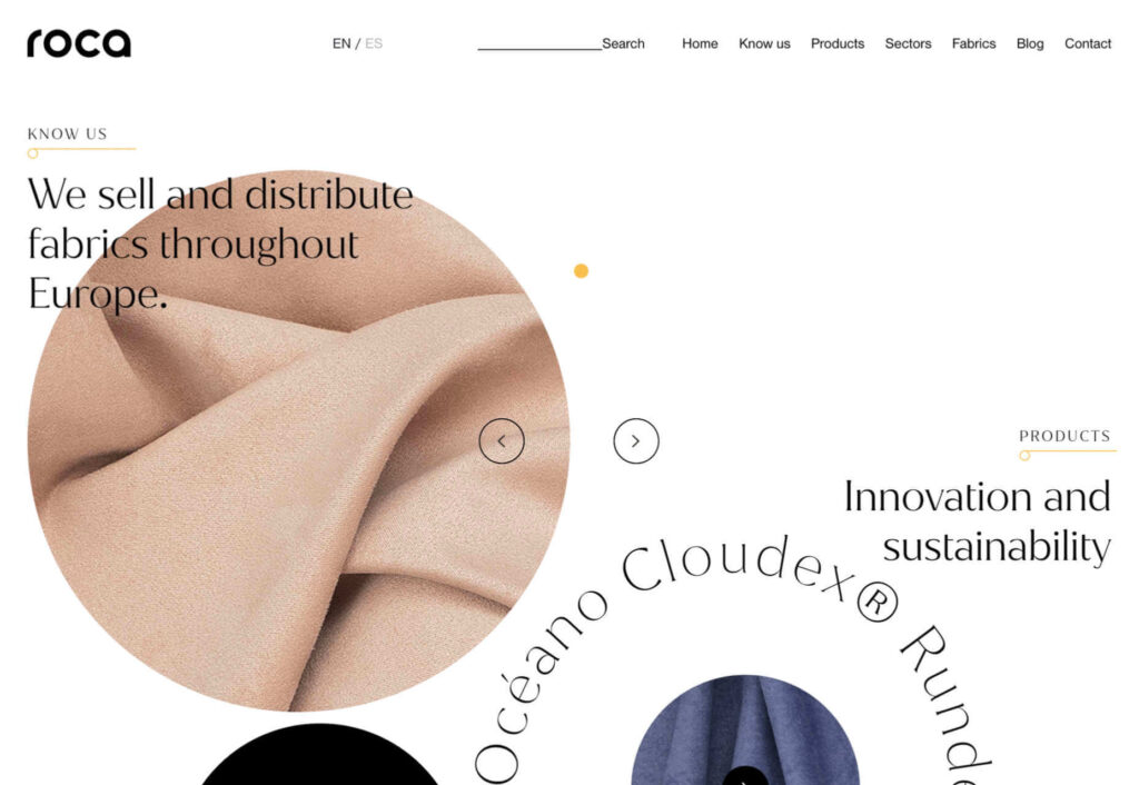 tejidos roca diseño web